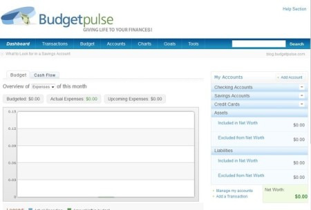 BudgetPulse default window
