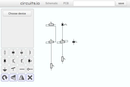 Circuits schematic creator