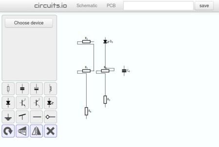 Circuits schematic creator