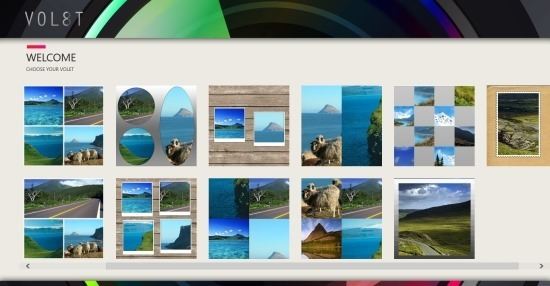 Collage App For Windows 8 Volet