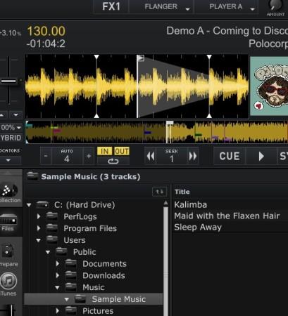 CrossDJ Free added tracks