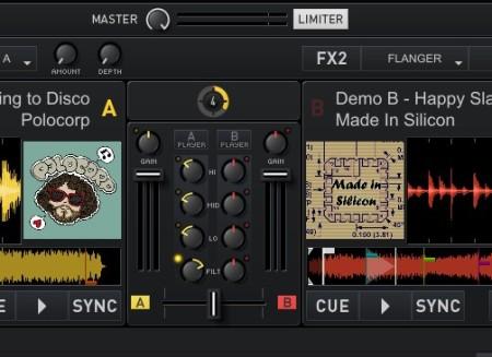 CrossDJ tracks mixing