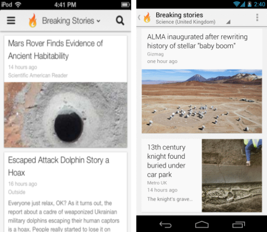 Currents google reader alternative for android ios