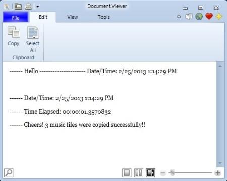 Dcoument Viewer document open