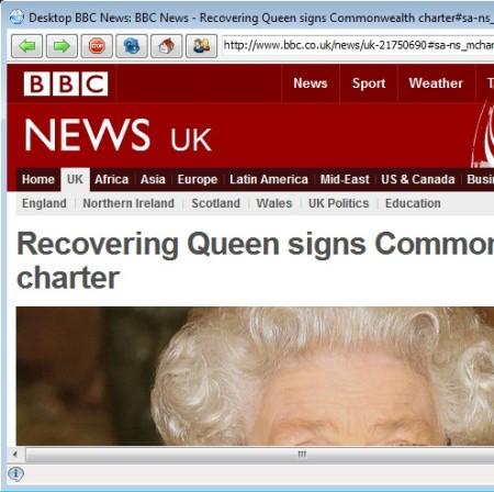 Desktop BBC News browser preview