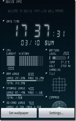 Device Info Live Wallpaper_1