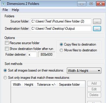 Dimensions 2 Folders automatic resolution folders