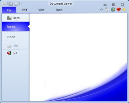 Document Viewer default window
