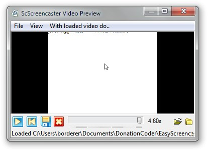 Easy Screencast Recorder preview recording