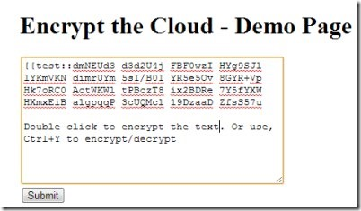 Encrypt the Cloud 02 send encrypted messages