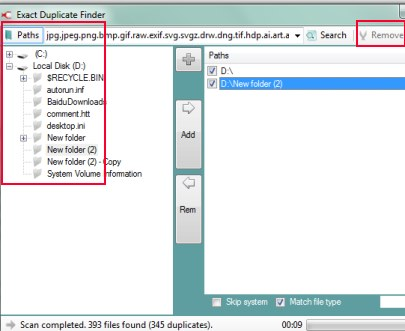 Exact Duplicate Finder 02 find duplicate files