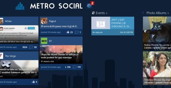 Facebook App For Windows 8 Metro Social