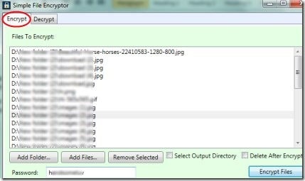 FileEncryptor 01 encrypt files