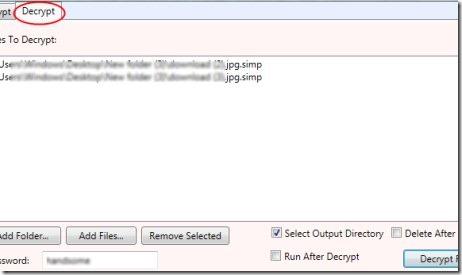 FileEncryptor 02 encrypt files