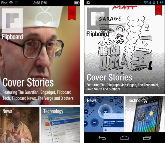 Flipboard for android and ios