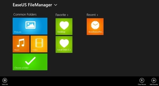 Free File Manager For Windows 8 EaseUS FileManager