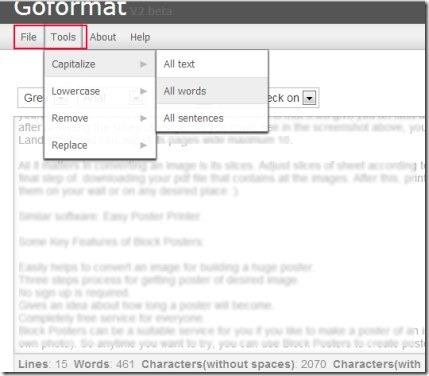 Goformat 01 text formatting tool