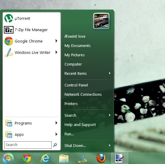 How To Get The Window 7 Start Menu On Windows 8