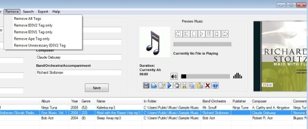 ID3 Tag Editor playing songs