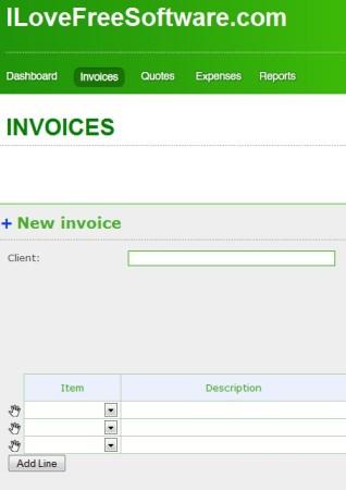 Invoiceberry creating invoice
