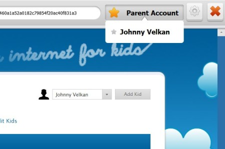 Kids Online account switcher