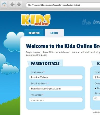Kids Online default window
