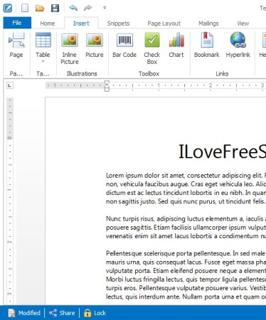 Klumbu editing document
