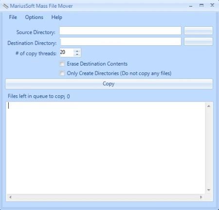 Mass File Mover default window