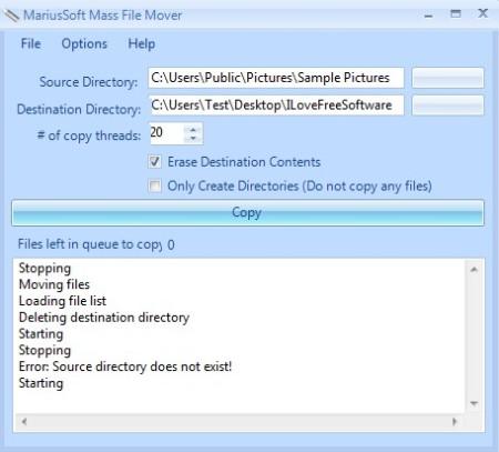 Mass File Mover file copied