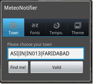 MeteoNotifier Town