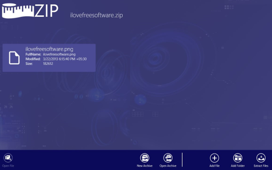 MetroZipFiles Zip Archiver For Windows 8