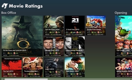 MovieRatings For Windows 8