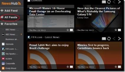 NewsHub 02 read news