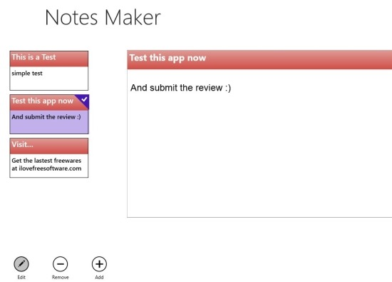 Notes Maker   Notes app for Windows 8
