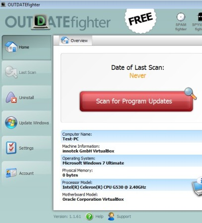 Outdate Fighter default window