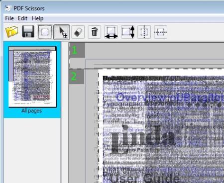 PDF Scissors stacked document