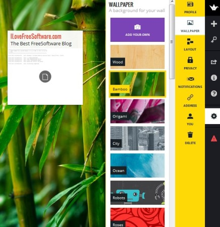 Padlet modified page