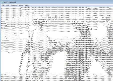 PhXo ASCII conversion