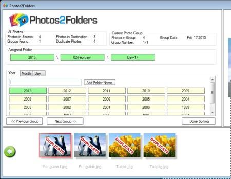 Photos2Folders setting up