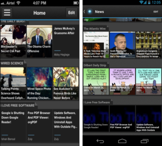 Pulse News android and ios app