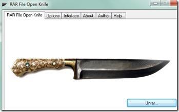 RAR File Open Knife 01 extract rar files
