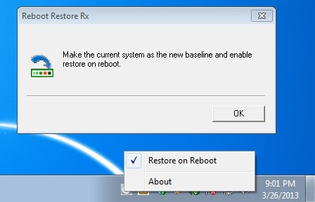 Reboot Restore RX turning on restoration