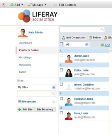Social Office contacts