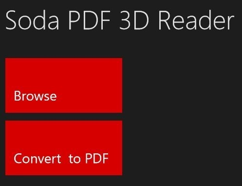 Soda PDF 3D Reader open file