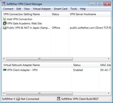 SoftEther default window
