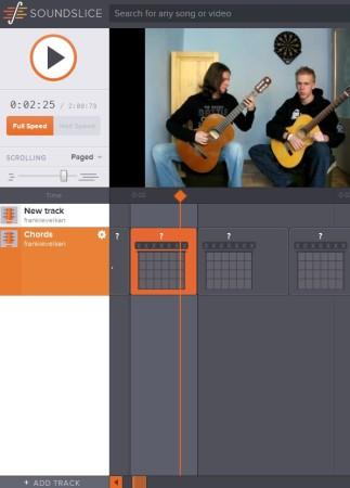 SoundSlice adding chords