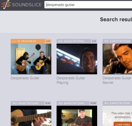 SoundSlice search tool