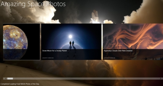 Space Photos is a free app for Windows 8