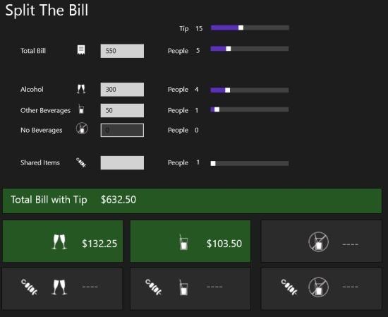 Split The Bill App Windows 8
