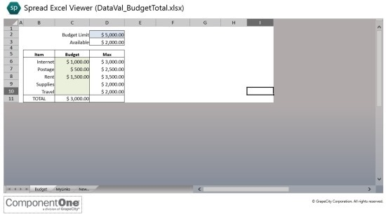 Spread Excel Viewer App For Windows 8